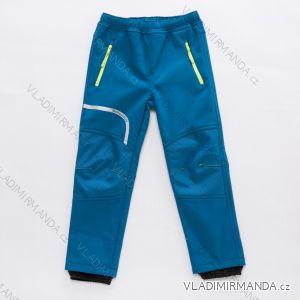 Kalhoty softshellové zateplené flaušem fleecem kojenecké dětské chlapecké (86-110) WOLF B2893