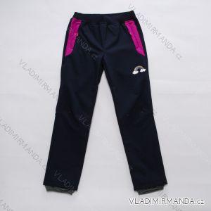 Kalhoty softshellové zateplené s fleecem dětské dorost dívčí (116-146) WOLF B2892