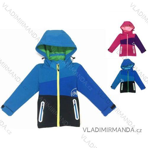 Bunda softshell zateplená s fleecem kojenecká dětská dívčí a chlapecká (80-110) KUGO B521