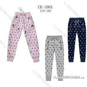Tepláky kalhoty dětské a dorost dívčí teplé (134-164) SEZON CK-1004S