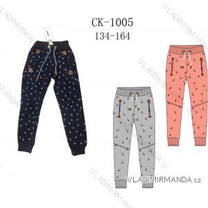Tepláky kalhoty dětské a dorost dívčí teplé (134-164) SEZON CK-1005S