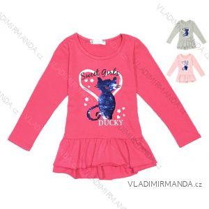 Tričko dlouhý rukáv s flitry kojenecké dětské dívčí (80-110) KUGO K716