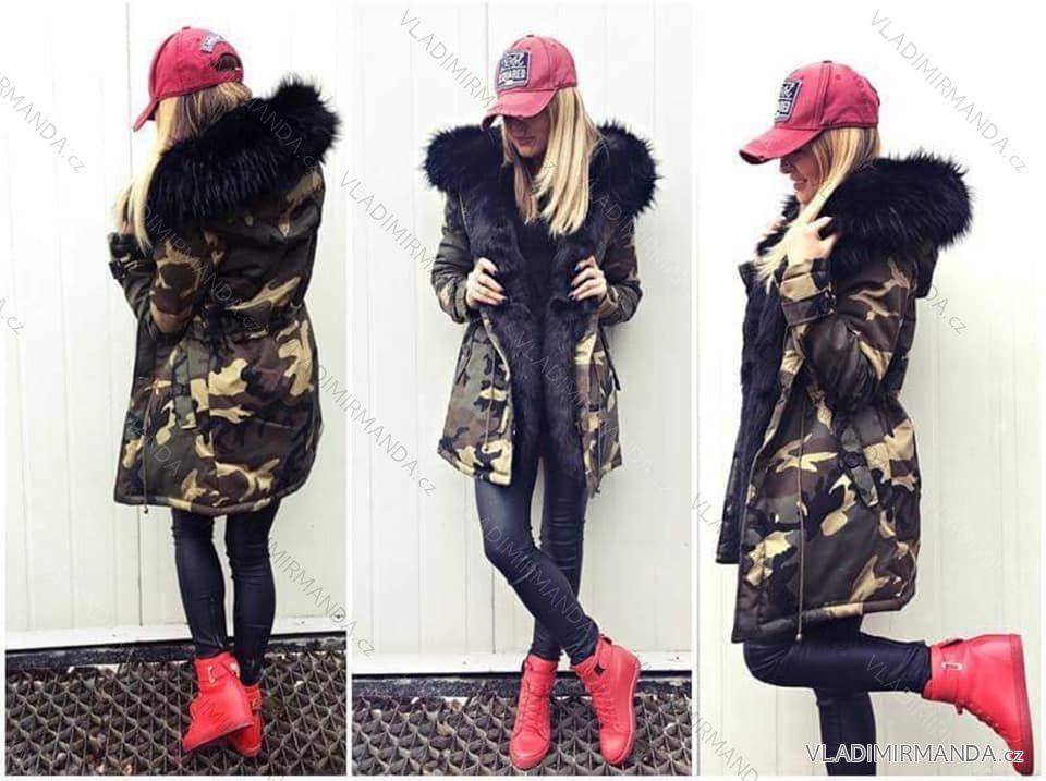Kabát zimné parka s kožušinkou dámska (sl) K-ZELL TALIANSKÁ MÓDA IM917015 ebaacdf6385