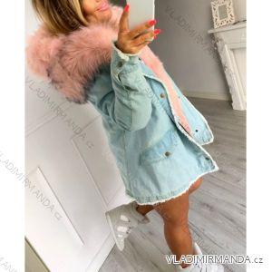 Bunda zimní parka jeans s kožíškem dámský (s-l) KZELL ITALSKá MODA IM918462