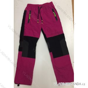 Kalhoty šusťákové zateplené flaušem dorost dívčí i chlapecké (134-164) SEZON SF-1806
