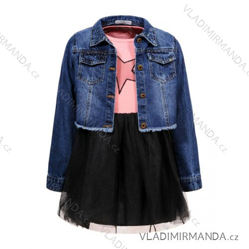 6ace84c676f5 Set riflová bunda a šaty detské a dorasteneckej dievčenské (110-160) GLO-