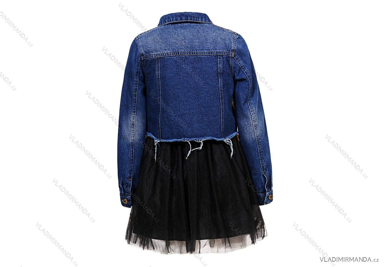 45ea57e6e806 Set riflová bunda a šaty detské a dorasteneckej dievčenské (110-160)  GLO-STORY GLT-7499