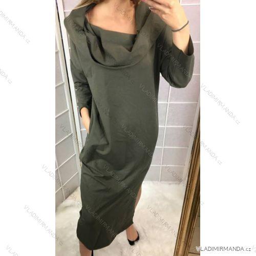 Šaty dlouhý rukáv dámské nadrozměrné (uni l-xl) SWEETISSIMA ITALSKá MóDA  IM518288 301731bf40