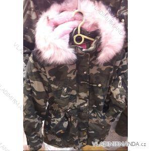 Bunda zimní dětská a dorost dívčí maskáč (134-164) TAURUS CCL18X25