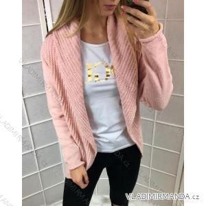 Cardigan pletený s kapucí dámský pletený (uni s-l) ITALSKá MóDA IM518147