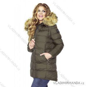 Kabát / vesta zimné prešívaný s kožušinkou dámsky nadrozmerný (42-44-46-48) MFASHION MF18M-15B