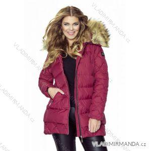Kabát / vesta zimné prešívaný s kožušinkou dámsky nadrozmerný (42-44-46-48) MFASHION MF18M-12A