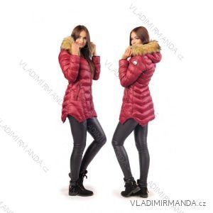 Kabát zimné s kožušinkou dámsky prešívaný (sml) MFASHION MF18M-18