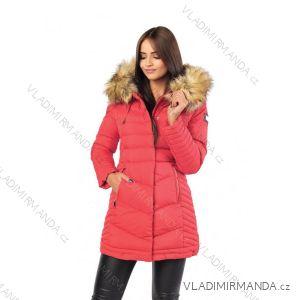 Kabát zimné s kožušinkou dámsky prešívaný (SML-xl) MFASHION MF18M-14A