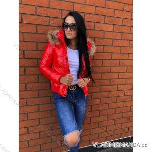 Winter jacket with fur quilted womens (xs-l) MFASHION MF18001 675f14bc2f