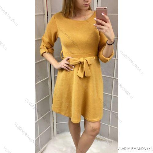 c8ea26f9473e Šaty pletené dlhý rukáv dámske (uni sl) TALIANSKÁ MÓDA IM218300 ...