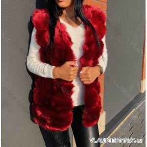 Vesta kožíšek dámská s kapucí (uni s-m) MF18S80