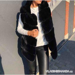 Vesta kožíšek dámská s kapucí (uni s-m) MF18S160-1