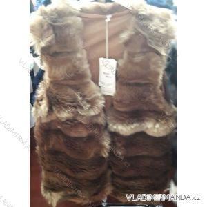 Vesta kožíšek dámská s kapucí (uni s-xl) IM218302