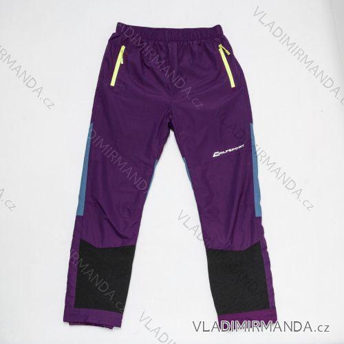 Kalhoty šusťákové  zateplené flaušem dětské dívčí a chlapecké (134-158) WOLF B2875