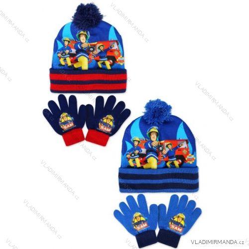 Set čepice a rukavice dětské chlapecké požárník sam (one size) SETINO  780-708 d14e803174