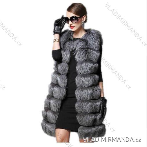 Vesta kožíšek dlouhý zimní dámský teplá umělá kožešina (s-4xl) AFASHION  AF18095 108505b447