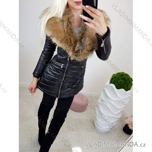 67d074e076e24 Kabát koženka s kožušinkou dámsky (sl) TALIANSKÁ MÓDA W4418001 ...