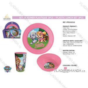 Jídelní set paw patrol dětský dívčí (3 díly) SUN CITY PPB102522