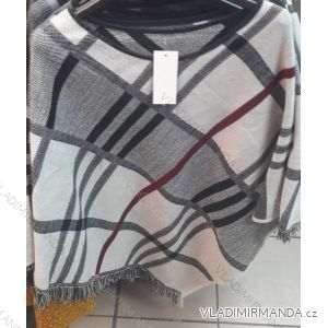 Pončo teplé kostkované dámské (one size) ITALSKá MODA IM318605