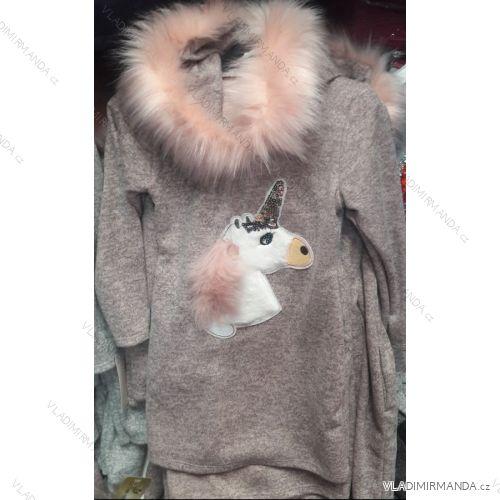 e2c7ed4e036 Šaty   svetr teplé dlouhý rukáv s jednorožcem dětské dívčí dorost (4-16 let
