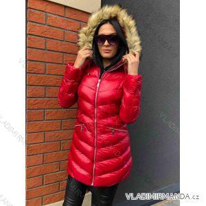 Kabát zimní s kožíškem dámský prošívaný (s-m-l) MFASHION MF18118