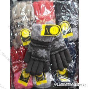 Rukavice pletené prstové dorostové dívčí MILAOLI TE21M