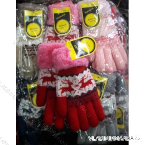 Rukavice pletené prstové dorostové dívčí MILAOLI TE19