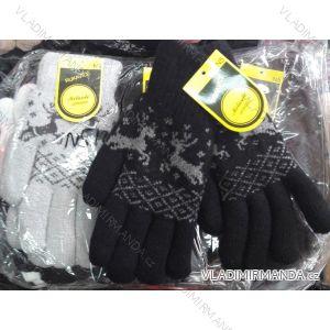 Rukavice pletené prstové dorostové dívčí chlapecké MILAOLI N5M