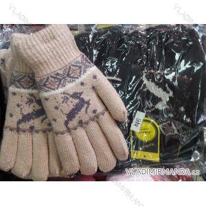 Rukavice pletené prstové dorostové dívčí chlapecké MILAOLI N6M