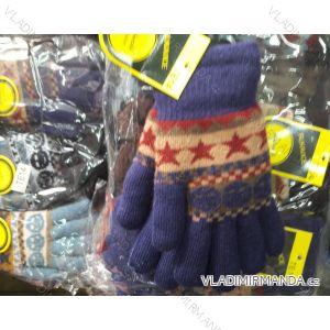 Rukavice pletené prstové dětskédívčí chlapecké MILAOLI TE14M
