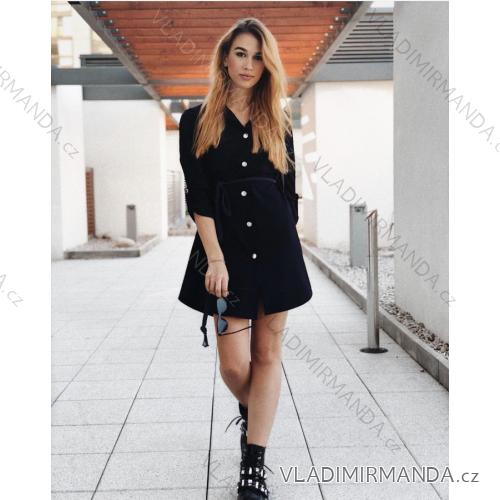 Šaty košilové 3 4 dlouhý rukáv dámské (uni s-l) ITALSKá MóDA IMC181030 7afa338e7a9
