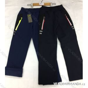 Kalhoty softhellové zateplené flaušem dorost chlapecké(134-164) FAD GRA18911
