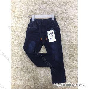 Rifle jeans dětské chlapecké teplé  (1-5 let) GRACE MA218X89
