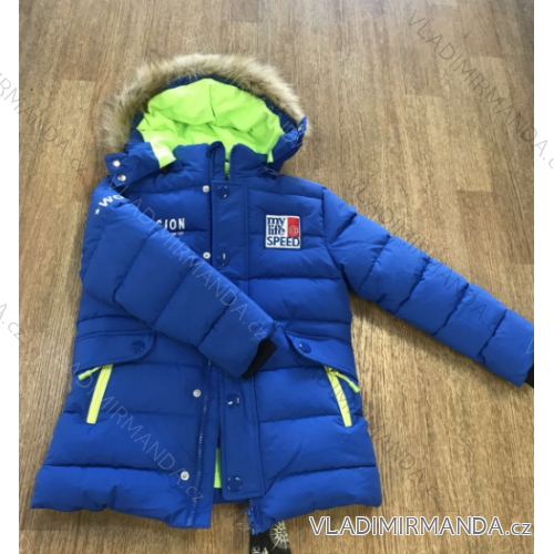 Bunda zimní s kapucí dětská a dorost (116-146) WOLF B2868
