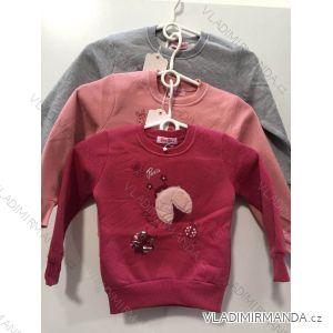 Mikina teplá kojenecká dětská dívčí (1-5let) YOUYOU RX-18043