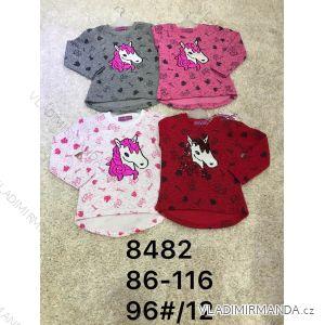 Tričko s flitry dlouhý rukáv teplé kojenecké dětské dívčí (86-116) ACTIVE SPORT ACT188482