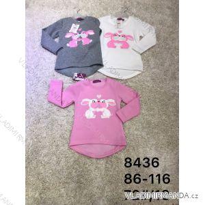 Tričko s flitry dlouhý rukáv teplé kojenecké dětské dívčí (86-116) ACTIVE SPORT ACT188436