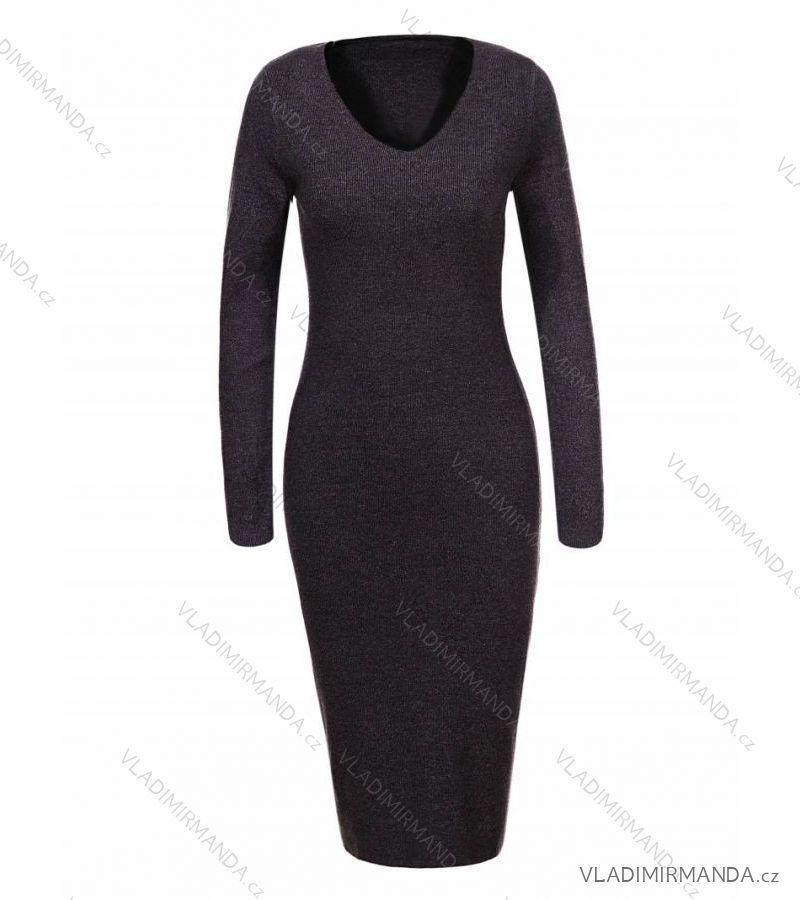Šaty úpletové dlouhý rukáv dámské (s m-m l) GLO-STORY WYQ-7664 ... db727f71d9