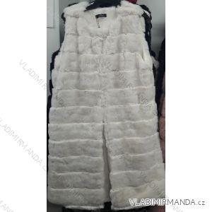 Vesta kožíšek prodloužená dámská (uni s-m) CC FASHION FRA1182507