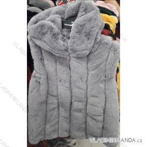Vesta kožíšek s kapucí dámská (m-l) YU AND ME PARIS FRA118LM-2083