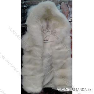 Vesta kožíšek s kapucí dětská a dorost dívčí (8 let) PRETTY BABY IMM218201