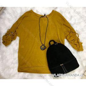 744a11a43 Tunika tričko 3/4 dlhý rukáv so šperkom dámske (uni sl) TALIANSKÁ MÓDA