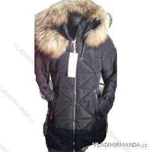 Bunda zimní prošívaná s kožíškem dámská (s-2xl) POLSKO IM1018W601