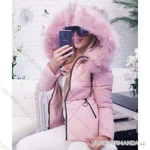Bunda zimná prešívaná s kožušinkou dámska (s-xxl) POĽSKO GAR18014